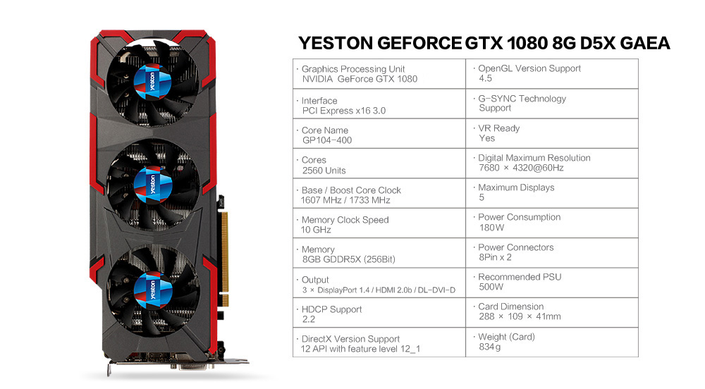 NVIDIA 1080 by Yeston