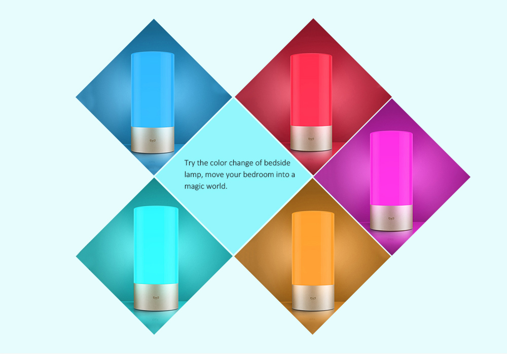 Xiaomi Mijia Bedside Lamp Night Light OSRAM LED RGBW Touch Bluetooth Control WiFi Connection ( Update Version )