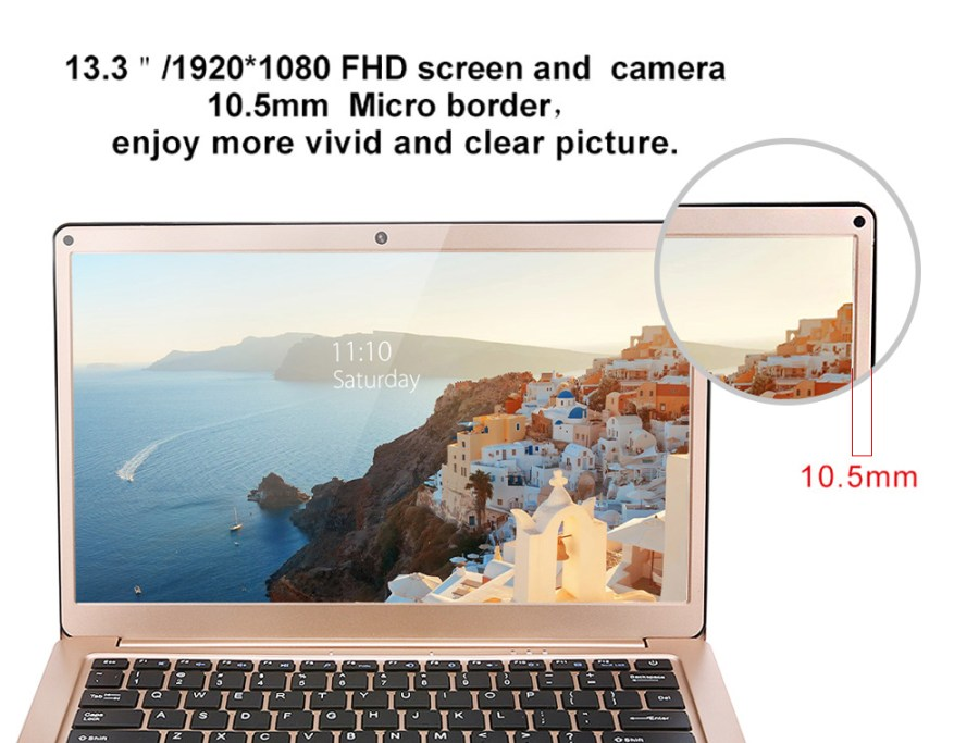 YEPO 737A 13.3 inch Laptop Windows 10 English Version Intel Celeron N3450 Quad Core 1.1GHz 6GB RAM 64GB eMMC HDMI