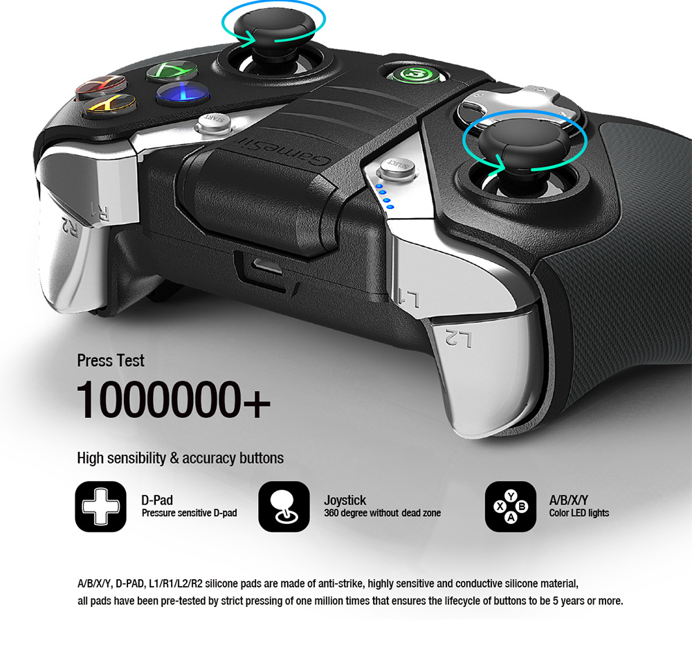 GameSir G4s Bluetooth V4.0 / 2.4G Wireless / Wired Gamepad Game Controller 32-bit MCU Chip for Android 4.0 and Later / Windows / Smartphone / TV Box / Tablet PC