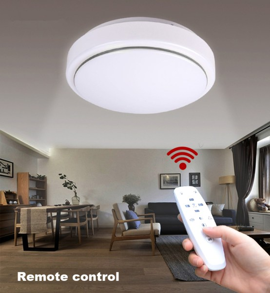 JIAWEN LED Ceiling Light with 2 4G RF Remote Controller    34 99     Package Contents  1 x LED Ceiling Light 1 x Remote Controler  No battery