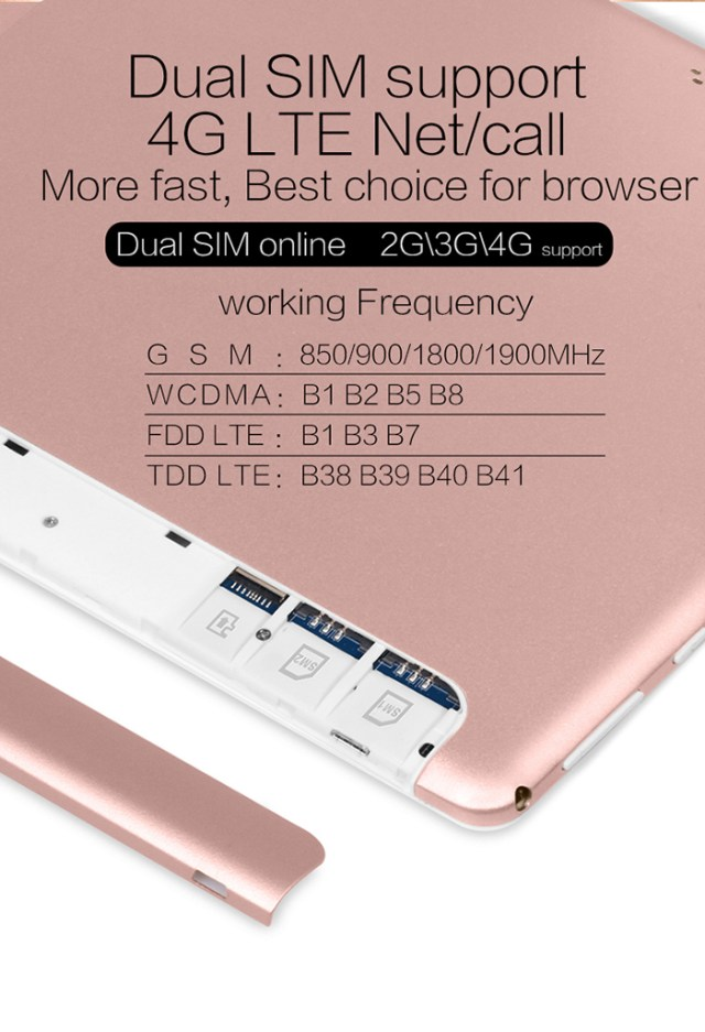 VOYO i8 Pro 4G Phablet Android 7.0 10.1 inch MT6753 Octa Core 1.3GHz 3GB RAM 64GB eMMC ROM Dual Cards Dual Standby