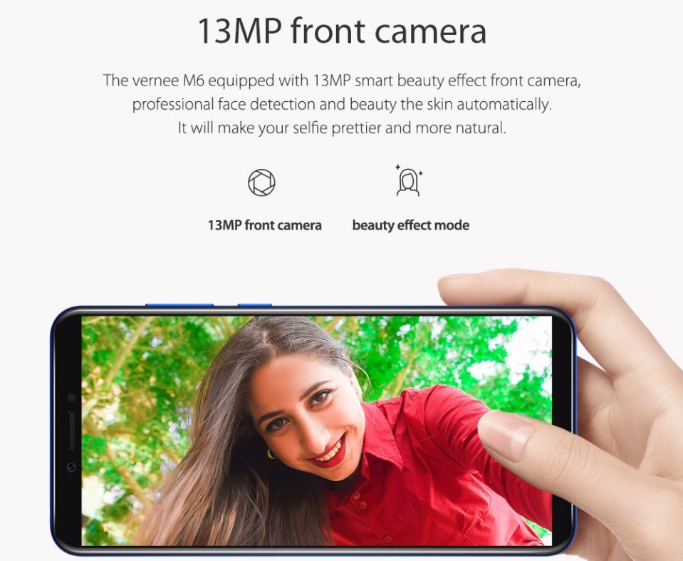 Vernee M6 4G Phablet 5.7 inch Android 7.0 MTK6750 1.5GHz Octa Core 4GB RAM 64GB ROM Dual Cameras Fingerprint Recognition OTG