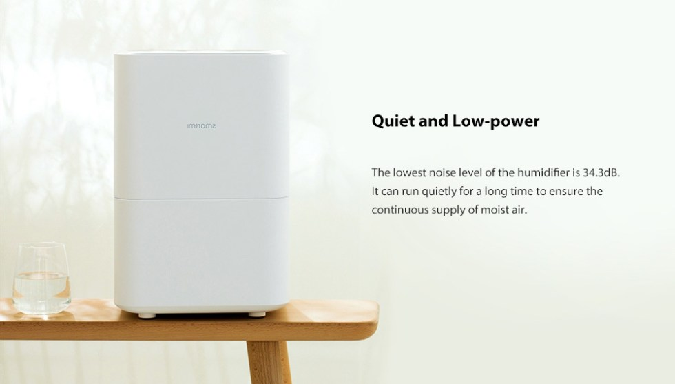 Smartmi Pure Evaporative Air Humidifier with 4L Capacity for Home Office - White