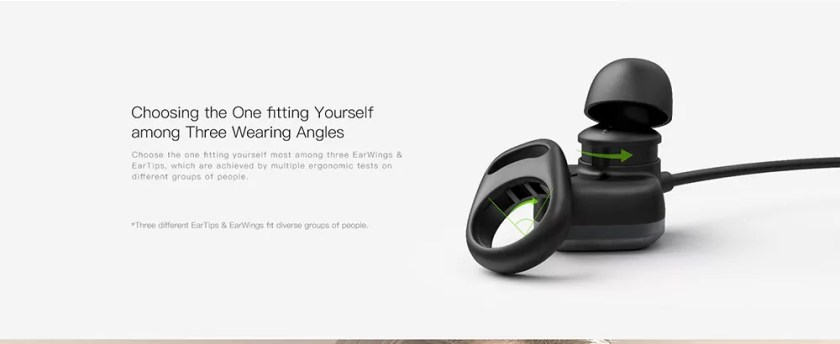 QCY M1 Pro Magnetic Earbuds Wireless Bluetooth Sports Stereo Earphone with Mic- Black