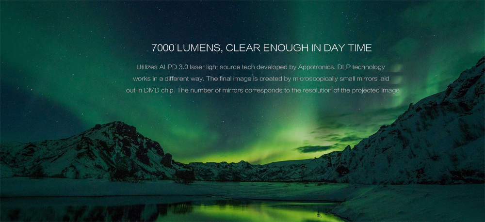 Xiaomi WEMAX One Pro Ultra Short Throw 7000 ANSI Lumens Laser Projector With ALPD Technology Offered For 09.99