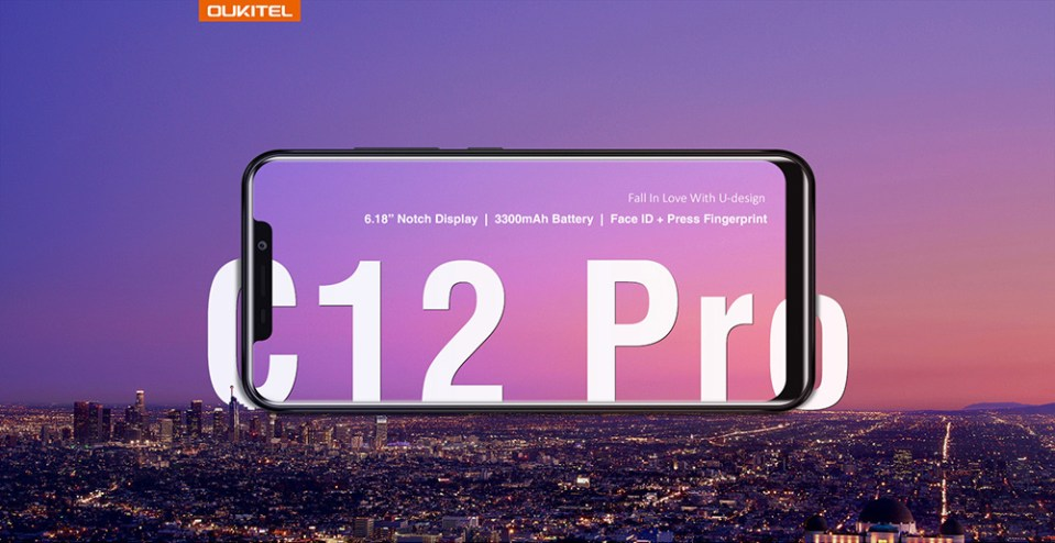 OUKITEL C12 Pro 4G Phablet 6.18 inch Android 8.1 MTK6739 Quad Core 2GB RAM 16GB ROM 8.0MP + 2.0MP Rear Camera Fingerprint Sensor 3300mAh Built-in- Purple