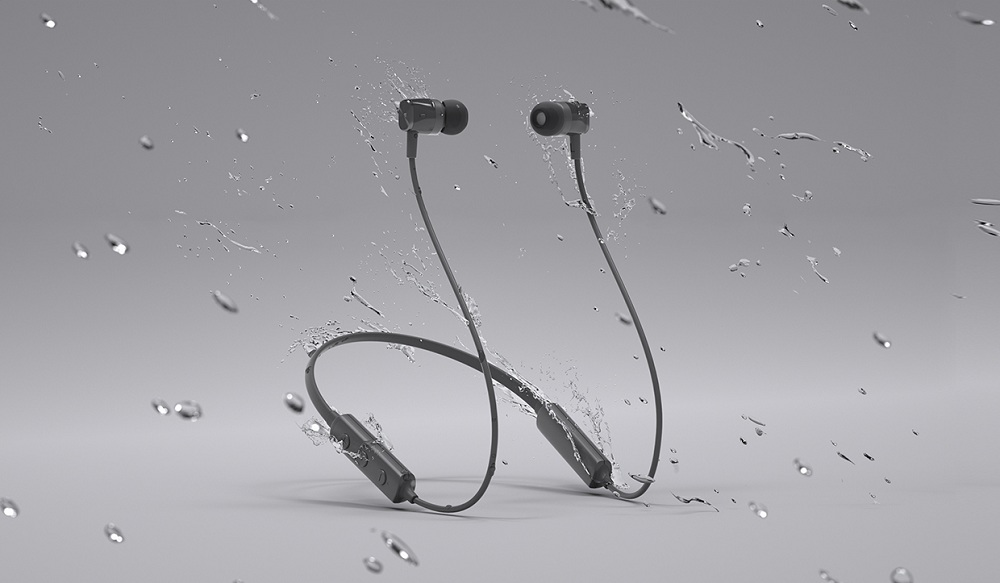 MEIZU EP52 Lite Bluetooth Magnetic Headphone Neckband Sweatproof Sports Earbuds with Mic - Gray