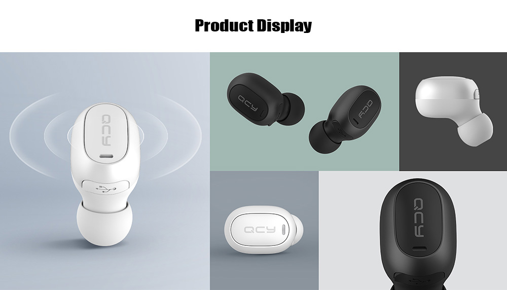 QCY Mini 2 Single TWS Bluetooth Earphone Wireless Earbud - Black