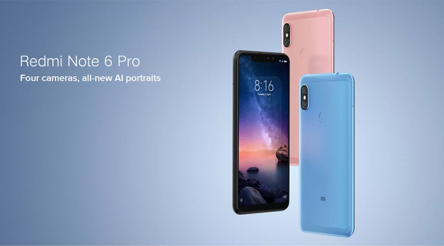 Xiaomi Redmi Note 6 Pro 4G Phablet 6.26 inch Snapdragon 636 Octa Core 1.8GHz 4GB RAM 64GB ROM 12.0MP + 5.0MP Rear Camera Fingerprint Sensor- Denim Blue
