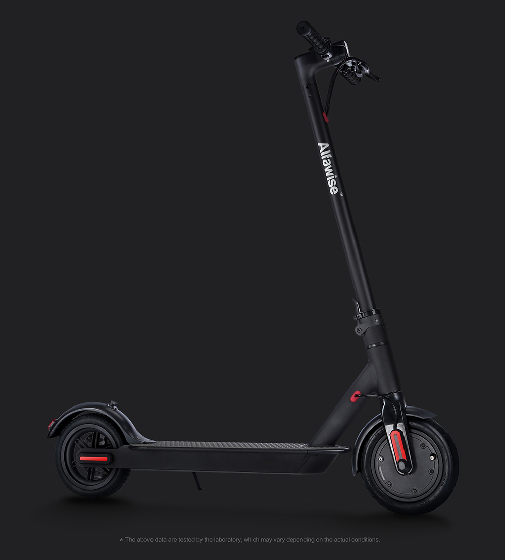 Alfawise M1 Folding Electric Scooter 30km Cruising Distance Puncture-resistant Tire Energy Recovery- Black