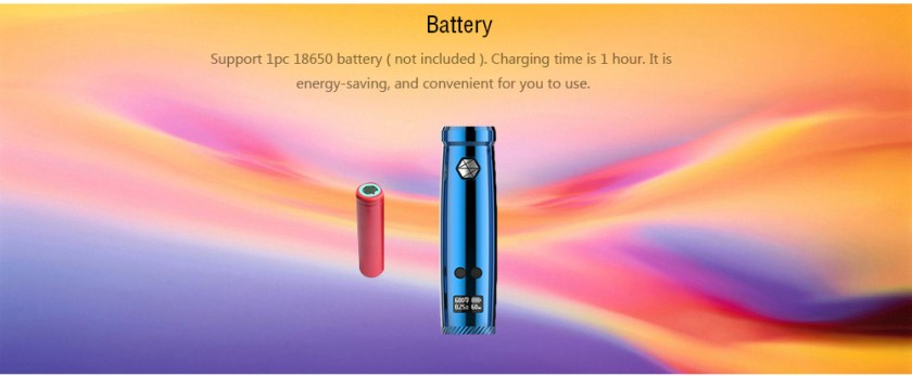 Uwell Nunchaku 80W TC Mod with 200 - 600F / Supporting 1pc 18650 Battery for E Cigarette- Black
