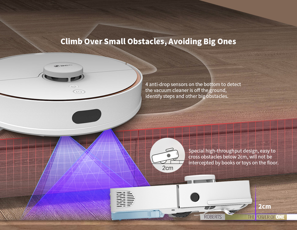 360 S7 Laser Navigation Slam Route Planning 2000Pa Large Suction Ultra-quiet Map Memory Sweeping Floor Mopping Robot International Version - White