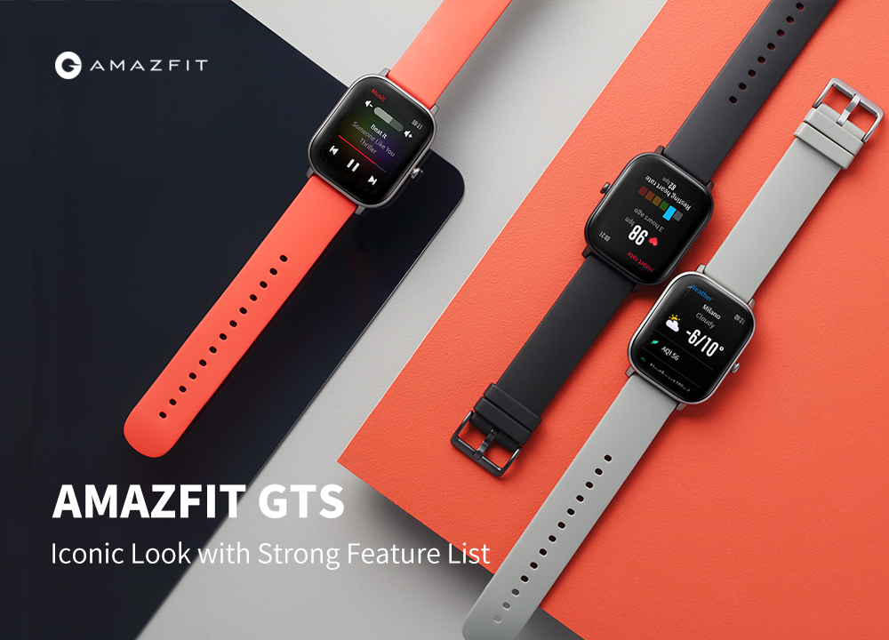 Gearbest AMAZFIT GTS 1.65 inch AMOLED Display GPS Smart Watch