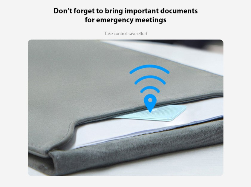 Baseus Wireless Smart Tracker Don't forget to bring important documents for emergency meetings