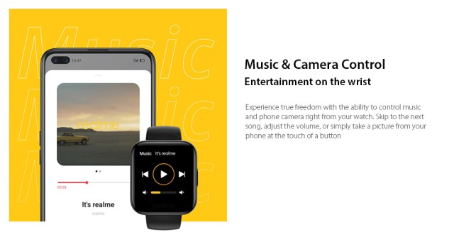 OPPO Realme Watches Smart Watch Music & Camera Control