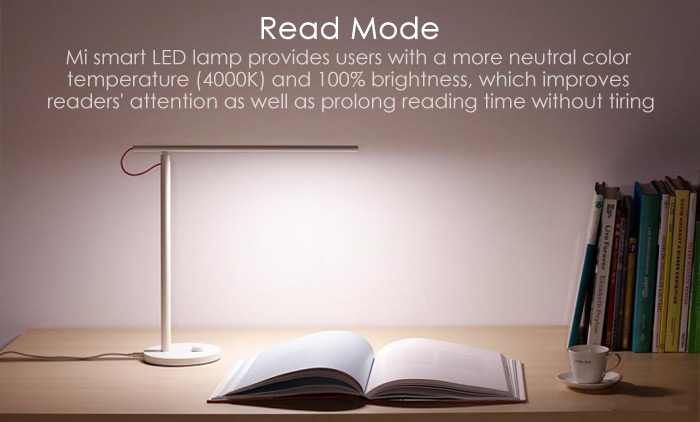 Xiaomi Mijia LED Smart Intelligent Dimming 4 modes d'éclairage Lampe de bureau Flicker-free