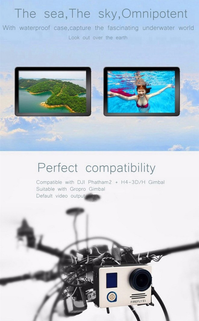 Hawkeye Firefly 6S 4K WiFi Sport HD DV 16M CMOS FPV 140 Degree Wide Angle Action Camera with Gyro Image Stabilization