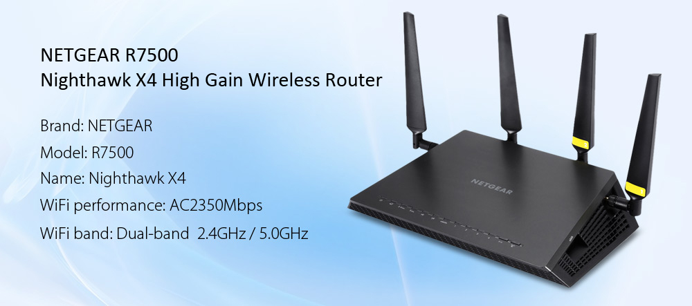 NETGEAR R7500 Nighthawk X4 AC2350Mbps Wireless Router WiFi Signal Amplifier