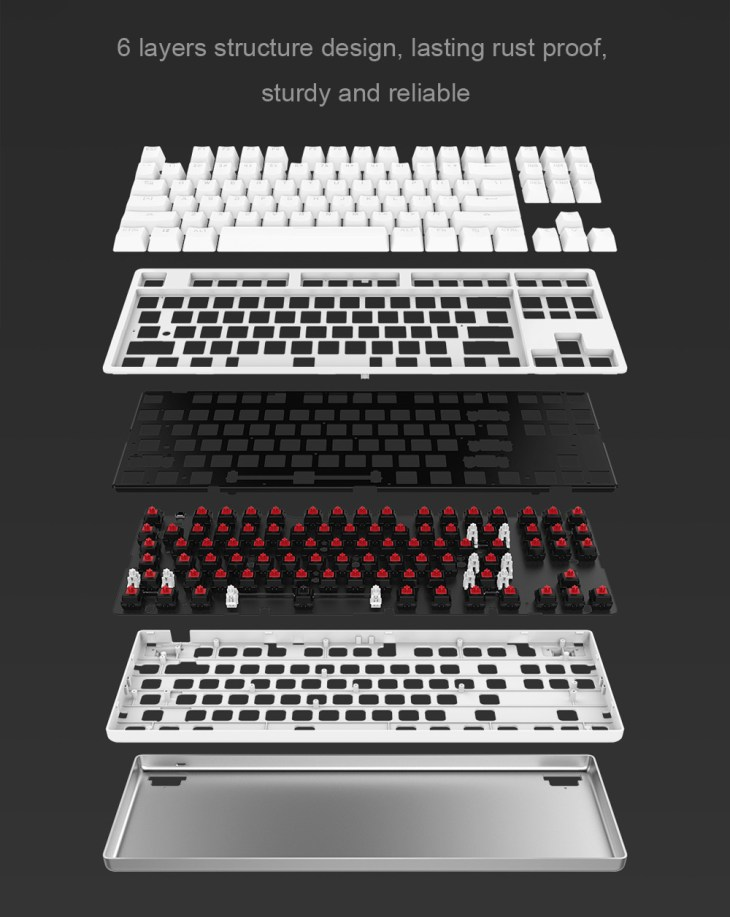 Original Xiaomi MK01 Mechanical Keyboard with 87 Key Red Switch Backlight