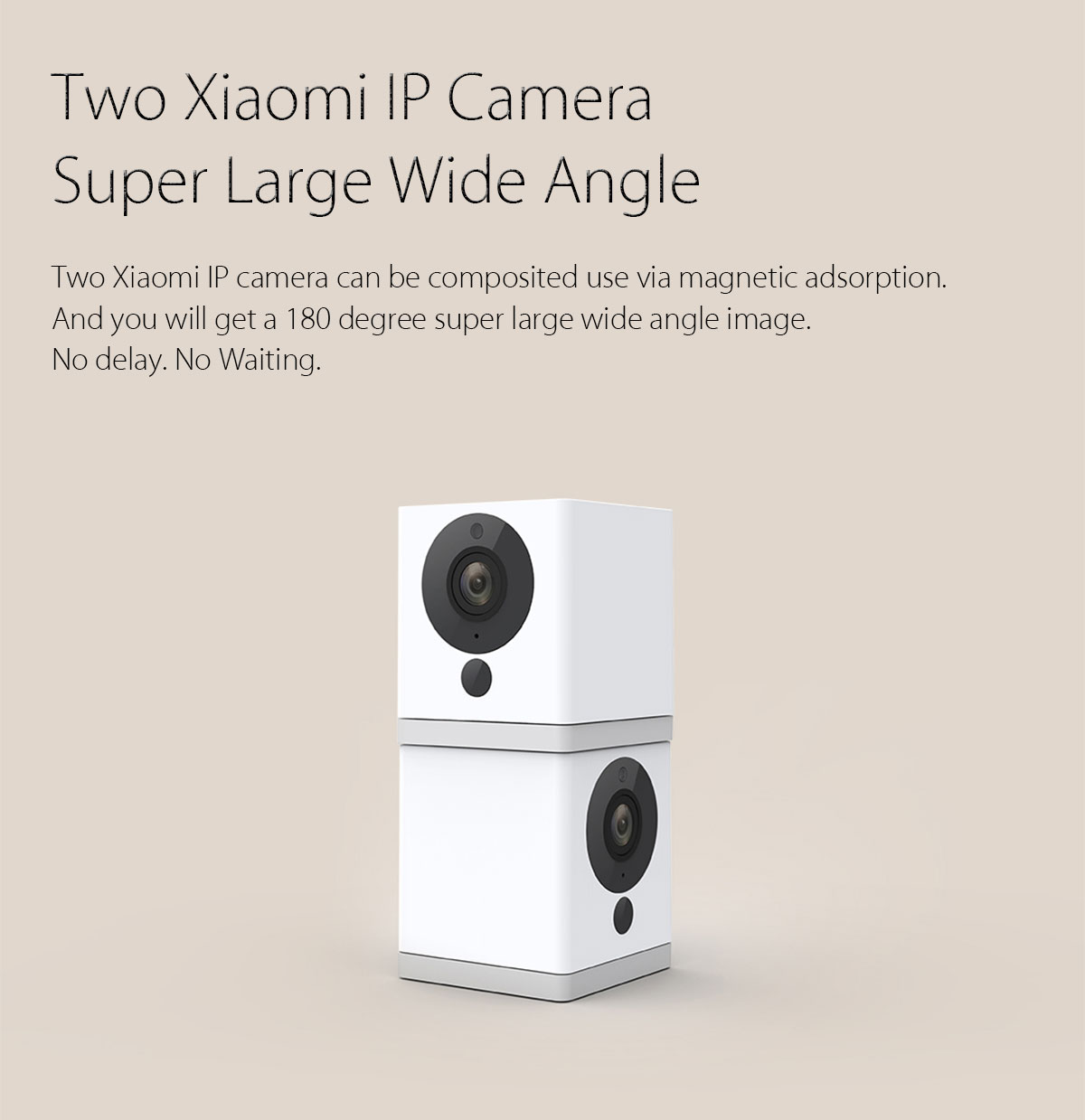 Original Xiaomi 1080P intelligent WiFi IP caméra Night Vision IR-cut de détection de mouvement de 110 degrés FOV