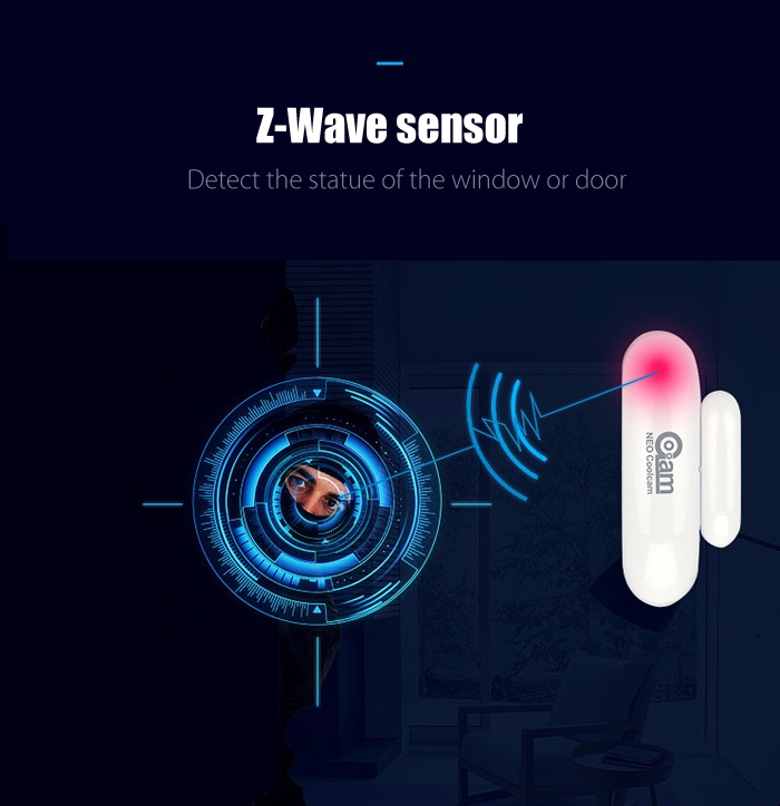 GC00AM NAS - DS01Z Z-Wave Door Window Sensor Home Automation System
