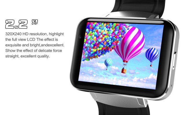 DOMINO DM98 2.2 inch Android 4.4 3G Smartwatch Phone MTK6572 Dual Core 1.2GHz 4GB ROM Camera Bluetooth