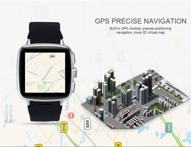 TenFifteen X9S 1.54 inch Android 5.1 3G Smartwatch Phone MTK6572 Dual Core 1.3GHz 4GB ROM Bluetooth 4.0 Recording