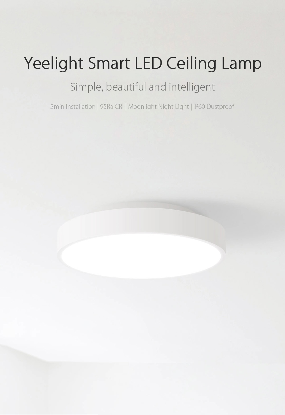 Yeelight Intelligent LED Ceiling Lamp Dust Resistance Wireless Dimming