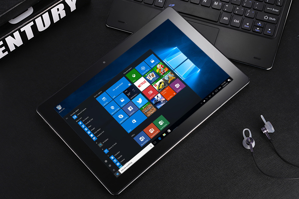 Pipo W1 Pro Tablet PC 10.1 inch Windows 10 Intel Atom X5-Z8350 1.44GHz Quad Core 4GB RAM 64GB ROM Dual Cameras