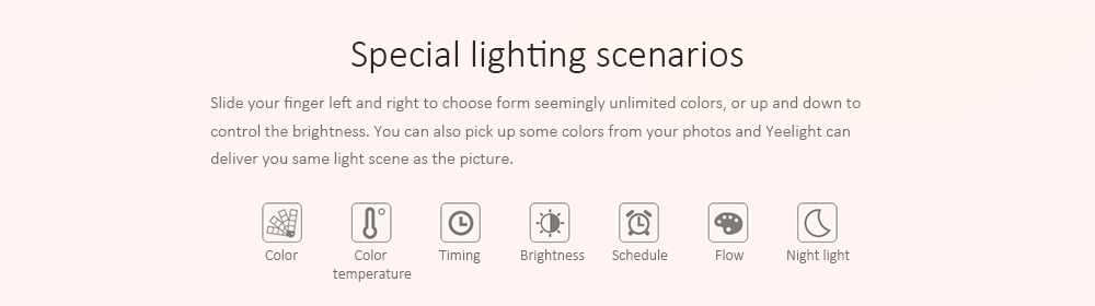Xiaomi Yeelight Lampe de chevet Night Light OSRAM LED RGBW Touch Control CCT Luminosité