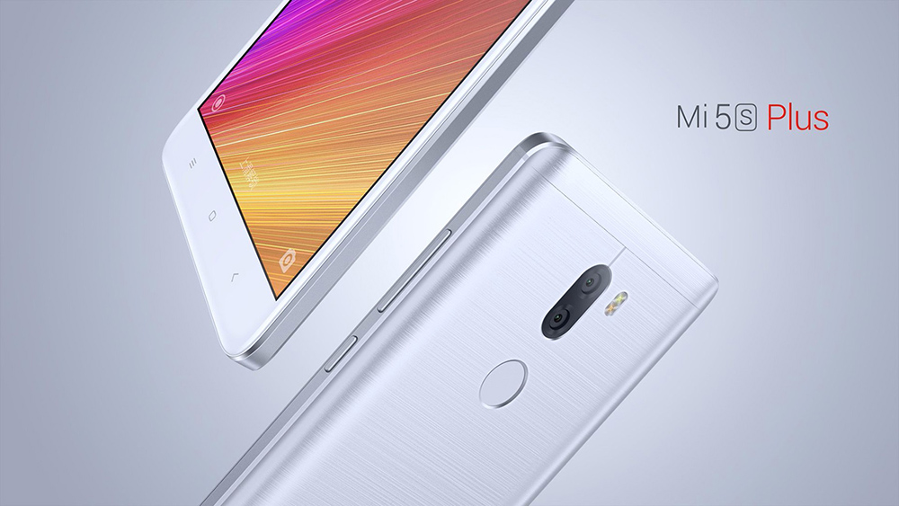 Xiaomi Mi5S Plus 5.7 inch MIUI 8 4G Phablet Qualcomm Snapdragon 821 Quad Core 2.35GHz 4GB RAM 64GB ROM Dual 13.0MP Rear Cameras Fingerprint Scanner Type-C NFC