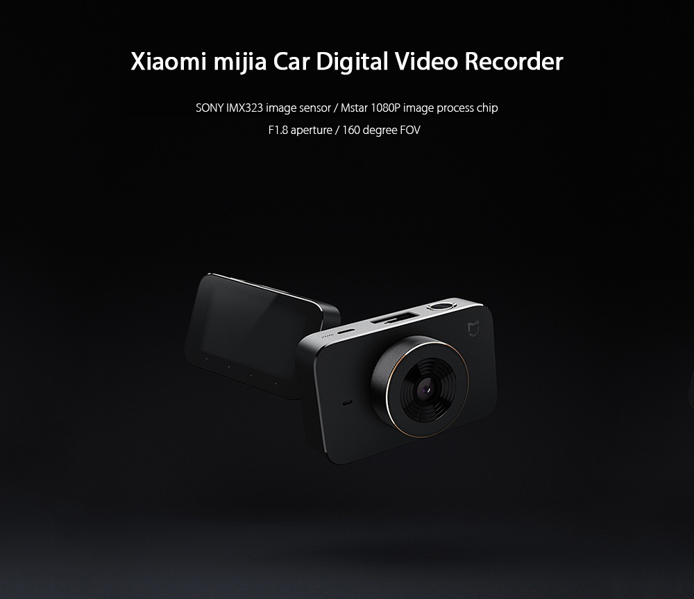 Xiaomi mijia 2.7 inch 1080P Car Digital Video Recorder with 160 Degree Wide Angle