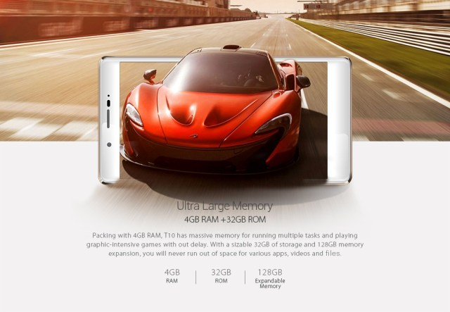 Leagoo T10 Android 6.0 4G Phablet 5.7 inch FHD Screen MTK6797m Deca Core 2.0GHz 4GB RAM 32GB ROM 13MP Main Camera Compass Fingerprint Scanner Type-C