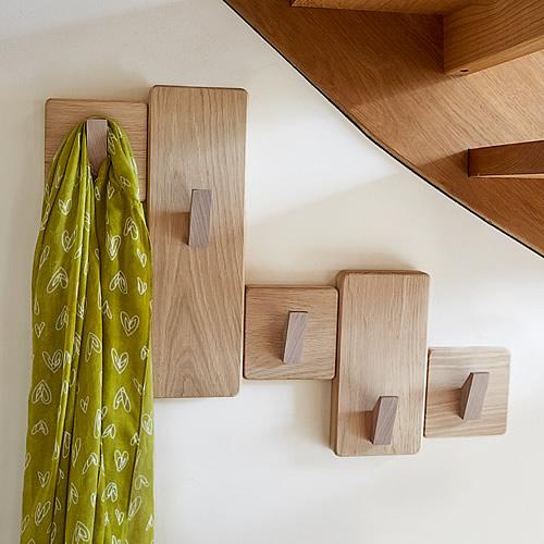 STORE Handmade Under Stairs Solid Oak Coat Rack