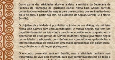 CONVITE - Dilogo com Mdias Negras - 8 de abril
