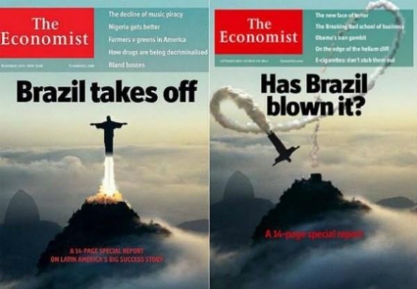 Em 2009 e 2013 duas capas bem opostas