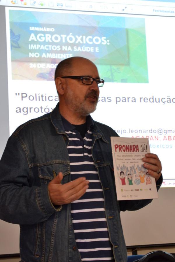Leonardo Melgarejo durante palestra