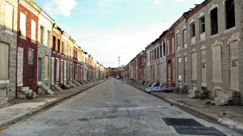 Bairro periférico de Baltimore
