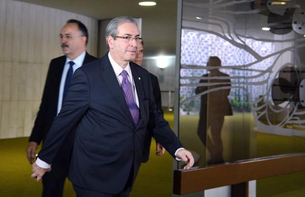 Brasília - O presidente da Câmara dos Deputados, Eduardo Cunha, chega em seu gabinete no Congresso Nacional (Antonio Cruz/Agência Brasil)