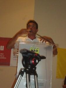 O presidente da Aprasc, cabo Elisandro Lotin de Souza explicou os perigos escondidos no PLP 257