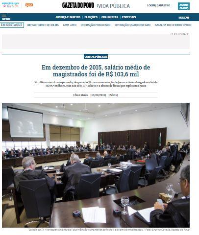 Série de ações de magistrados contra a Gazeta do Povo visa intimidar e não obter justiça, diz ANJ