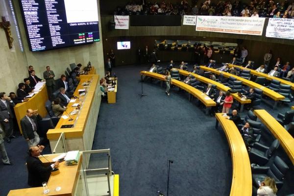 Votação na Câmara Municipal de São Paulo – Foto: Luiz França / CMSP