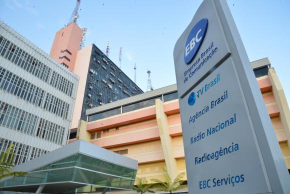 EBC, empresa pública, agora sob intervenção do governo de Temer.