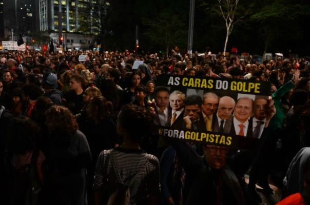 Manifestação contra Temer na avenida Paulista na quarta-feira : Foto: Rovena Rosa/ Agência Brasil (31/08/2016)