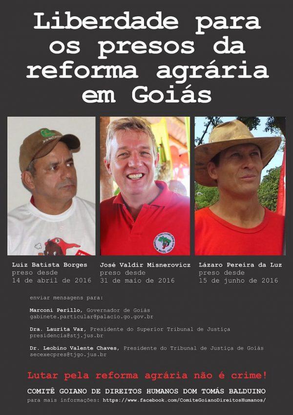 Comitê mobiliza solidariedade internacional a presos políticos do MST