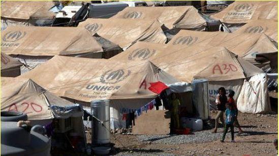 Acampamento de refugiados sírios na Jordânia