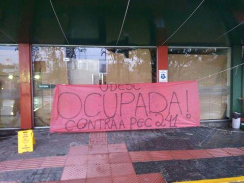 Udesc Ocupada: Negociação reitoria e estudantes