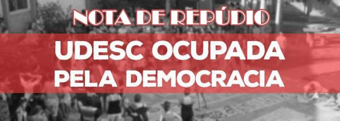 Nota de repúdio à agressão ocorrida ontem na UDESC