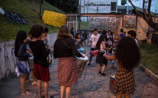 Durante as ocupações, alunos da E.E. Diadema organizaram atividades culturais e debates na escola